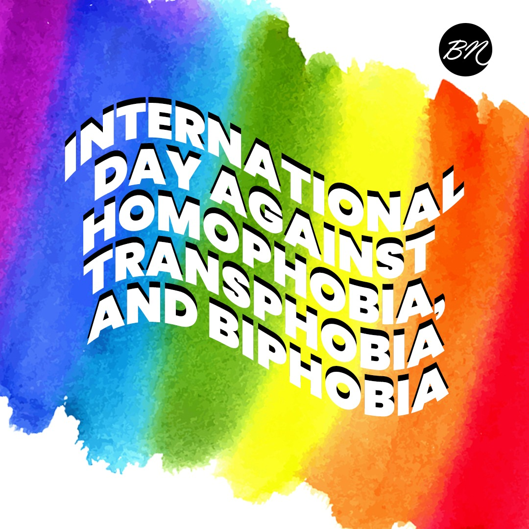 It's International Day Against Homophobia, Transphobia and Biphobia