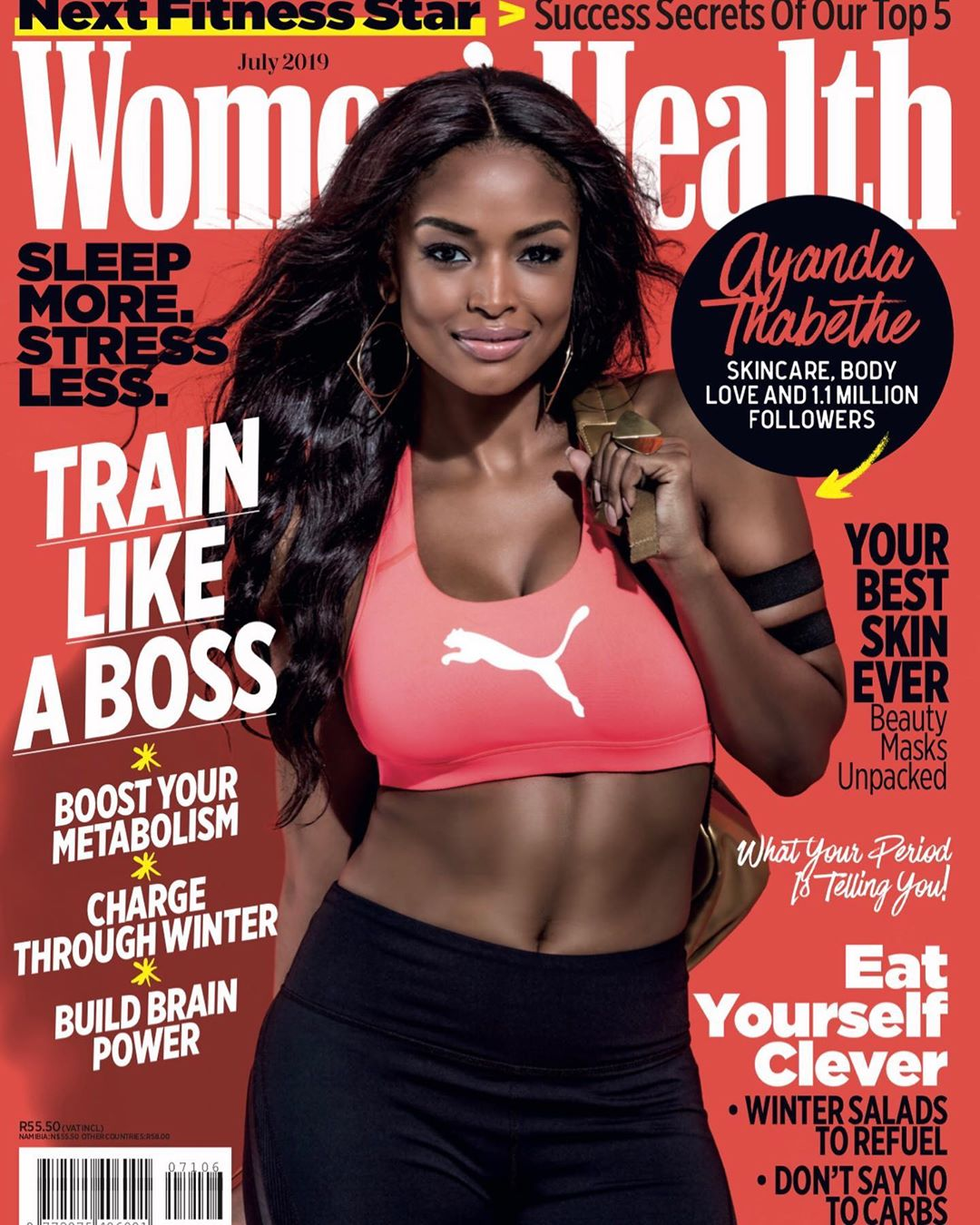 South African Actress Ayanda Thabethe is Body Goals on the Cover of Women's Health Magazine