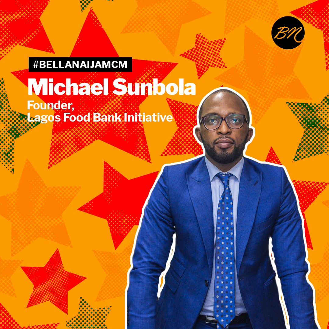"#BellaNaijaMCM Michael Sunbola of Lagos Food Bank Initiative is Working to Achieve ""Zero Hunger"" in Nigeria"