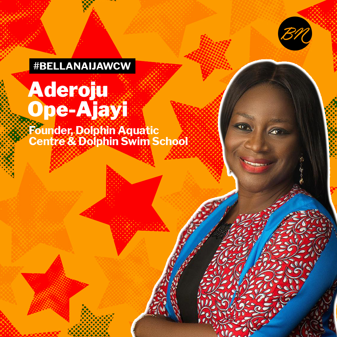 Champion, Coach, Entrepreneur! Aderoju Ope-Ajayi of Dolphin Swim School is our #BellaNaijaWCW this Week