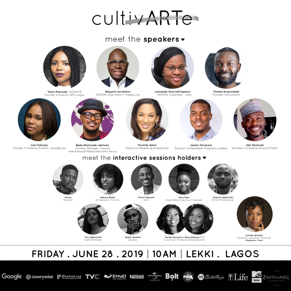 Tokini Peterside, Abayomi Awobokun & Fareed Arogundade to Speak at CultivARTe | Friday, June 28th