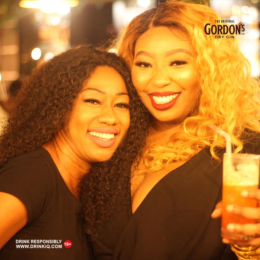 Gordon's Moringa parties with Latasha Ngwube