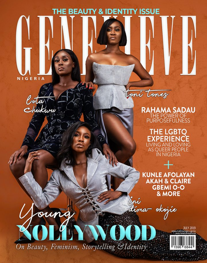 Nollywood Stars Ini Dima-Okojie, Lota Chukwu & Toni Tones cover Genevieve Magazine's July Issue