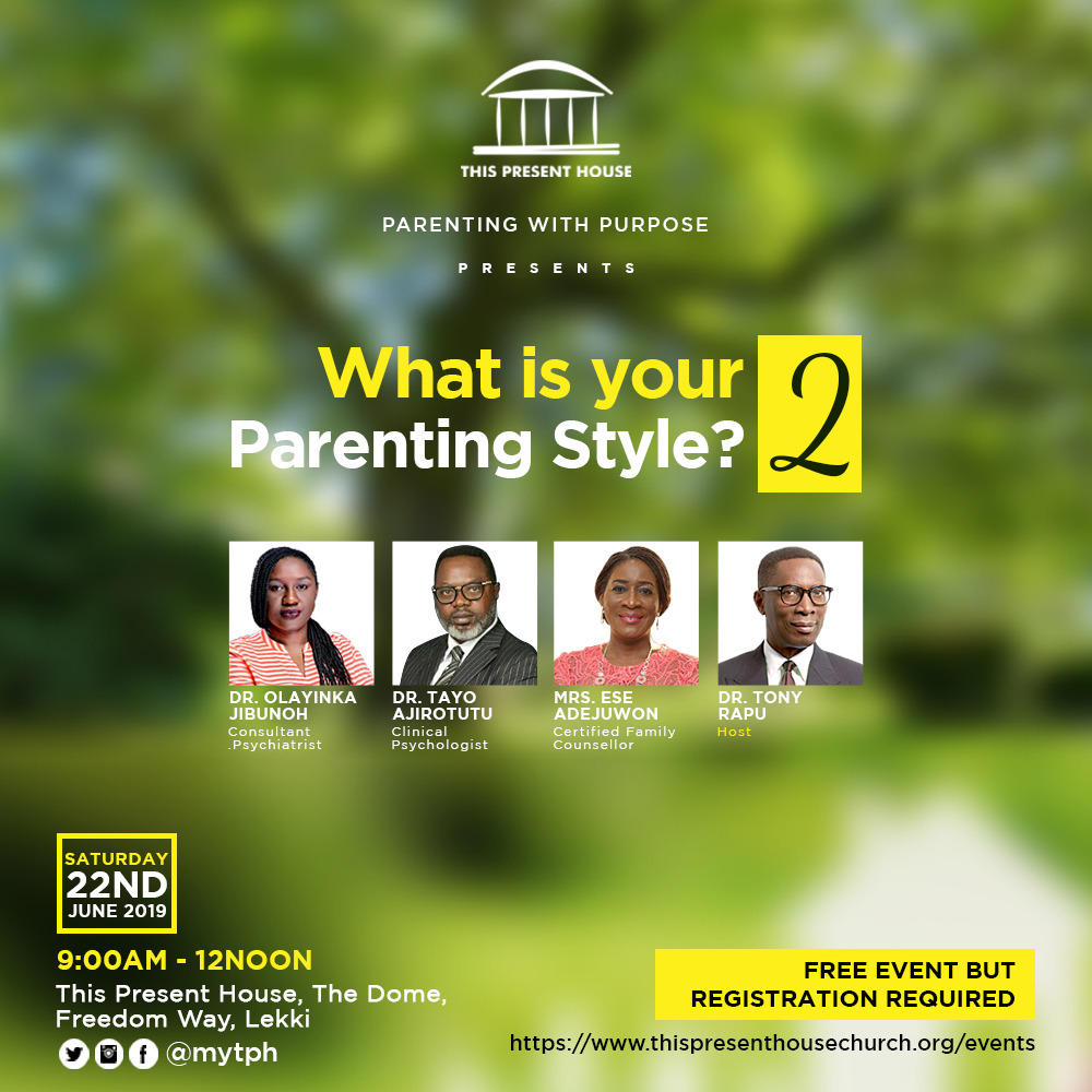 Pastor Tony Rapu & other Notable Speakers to teach on Secrets to Successful  Parenting | Tomorrow, June 22nd | BellaNaija