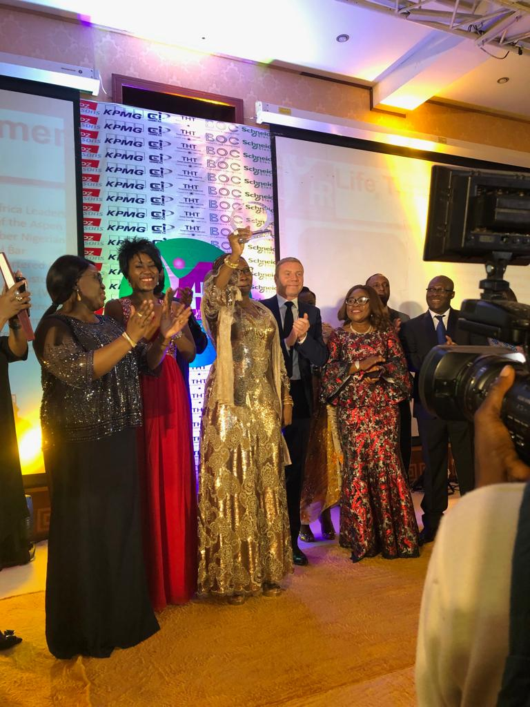 WISCAR Founder Amina Oyagbola was honoured with the HR People Magazine's Lifetime Achievement Award