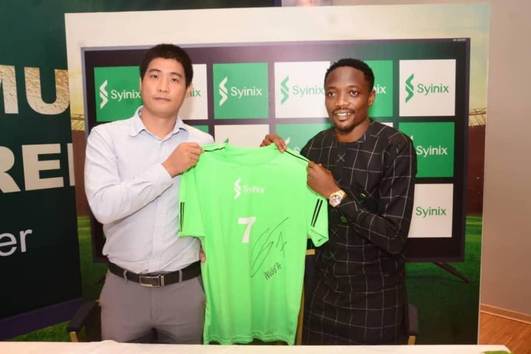 Syinix reveals Ahmed Musa as Brand Ambassador
