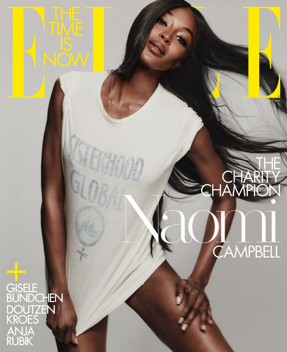 Naomi Campbell talks about Using Fashion to Champion Charity on the cover of ELLE USA's New Issue