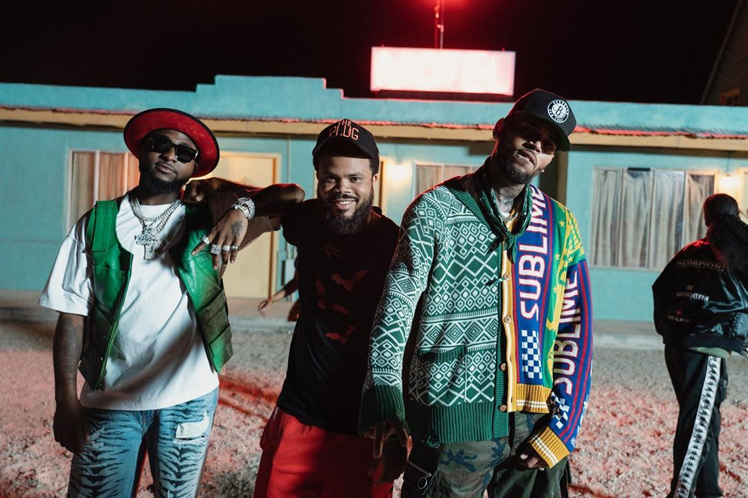 Image result for davido and chris brown blow my mind