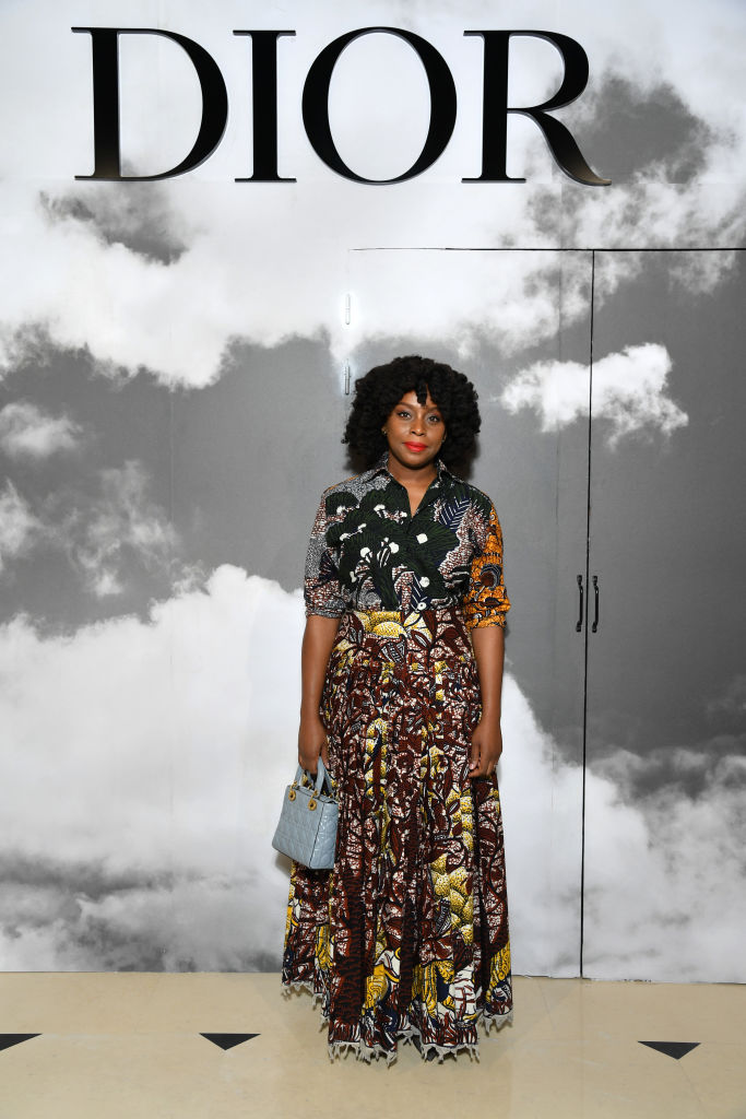 Chimamanda Adichie spotted at Christian Dior's PFW Haute Couture Show