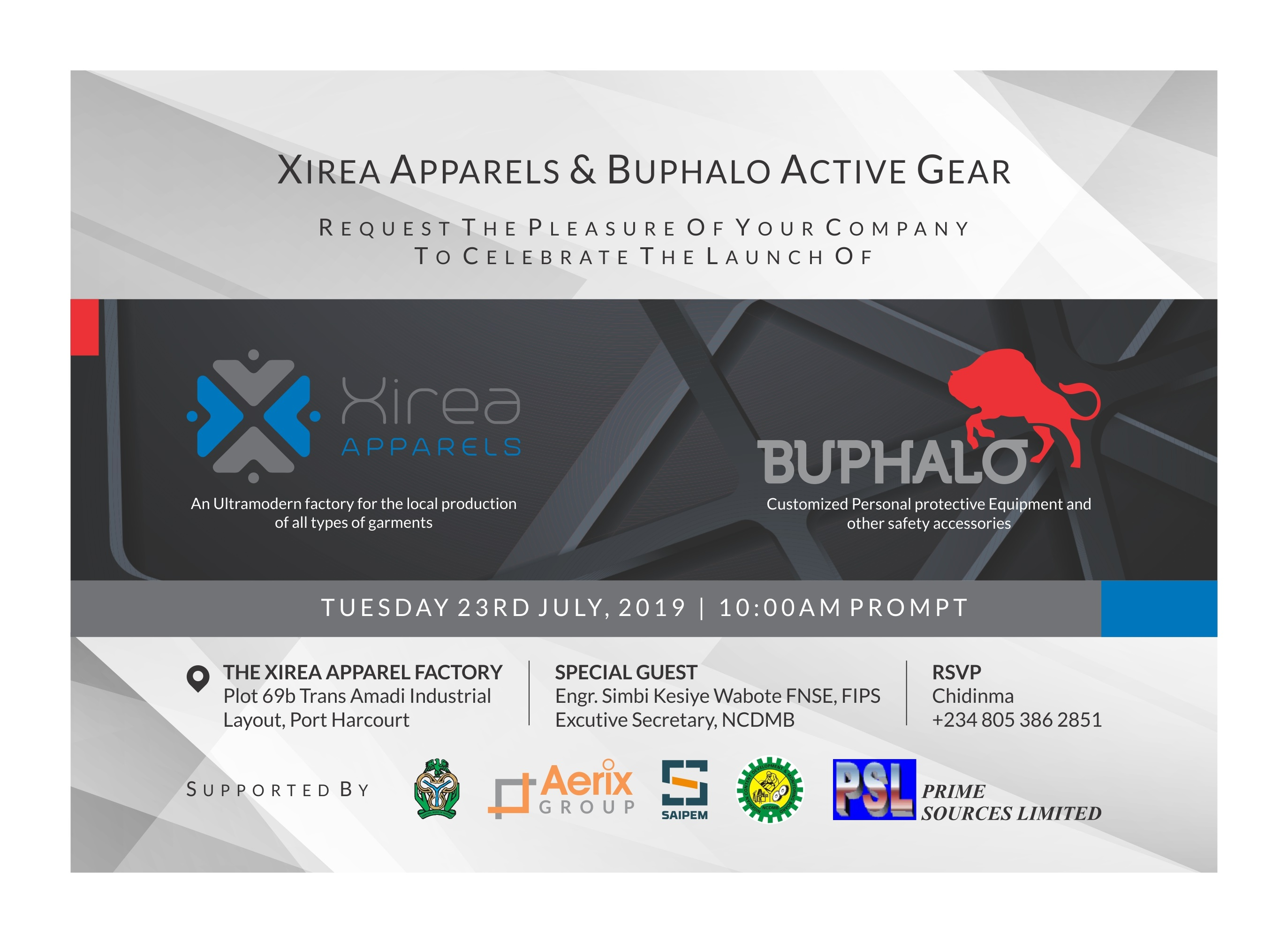 Xirea Apparels makes Major Business Moves as it Launches its State-of-the-art Garment Manufacturing Facility | July 23rd