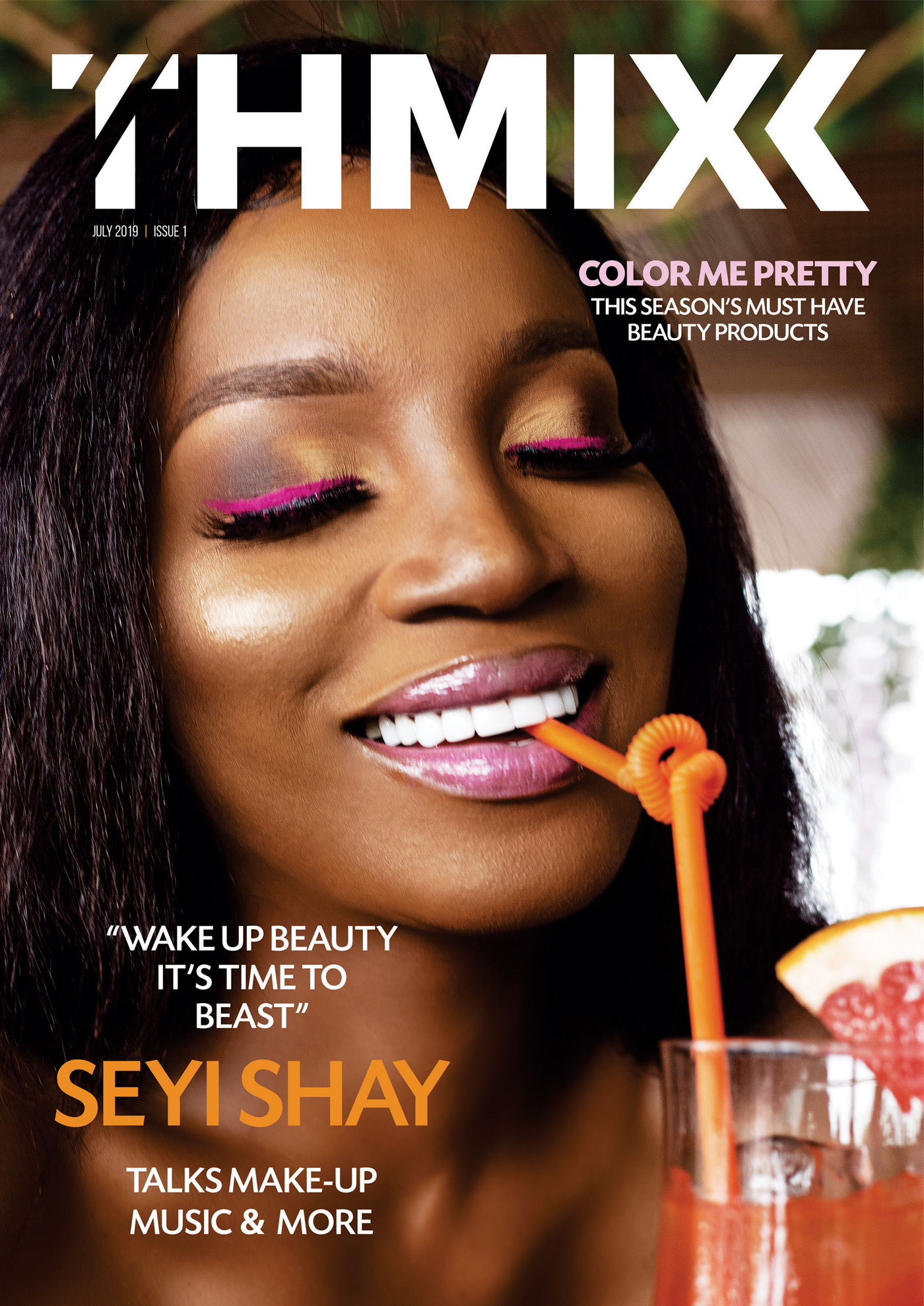 Seyi Shay is the Stunning Cover Girl for Thimxx Magazine's Maiden Edition