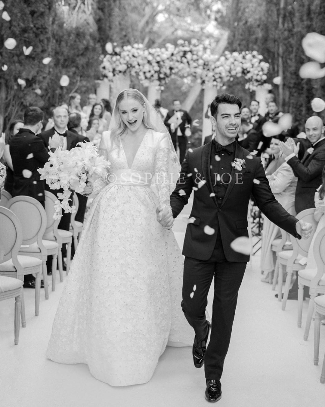 Sophie Turner & Joe Jonas just shared the First Photo from their Official Wedding!
