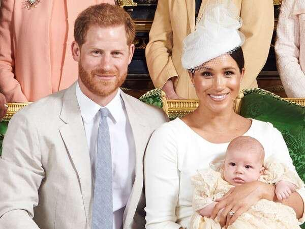 Meghan Markle & Prince Harry share Photos from Archie's Christening