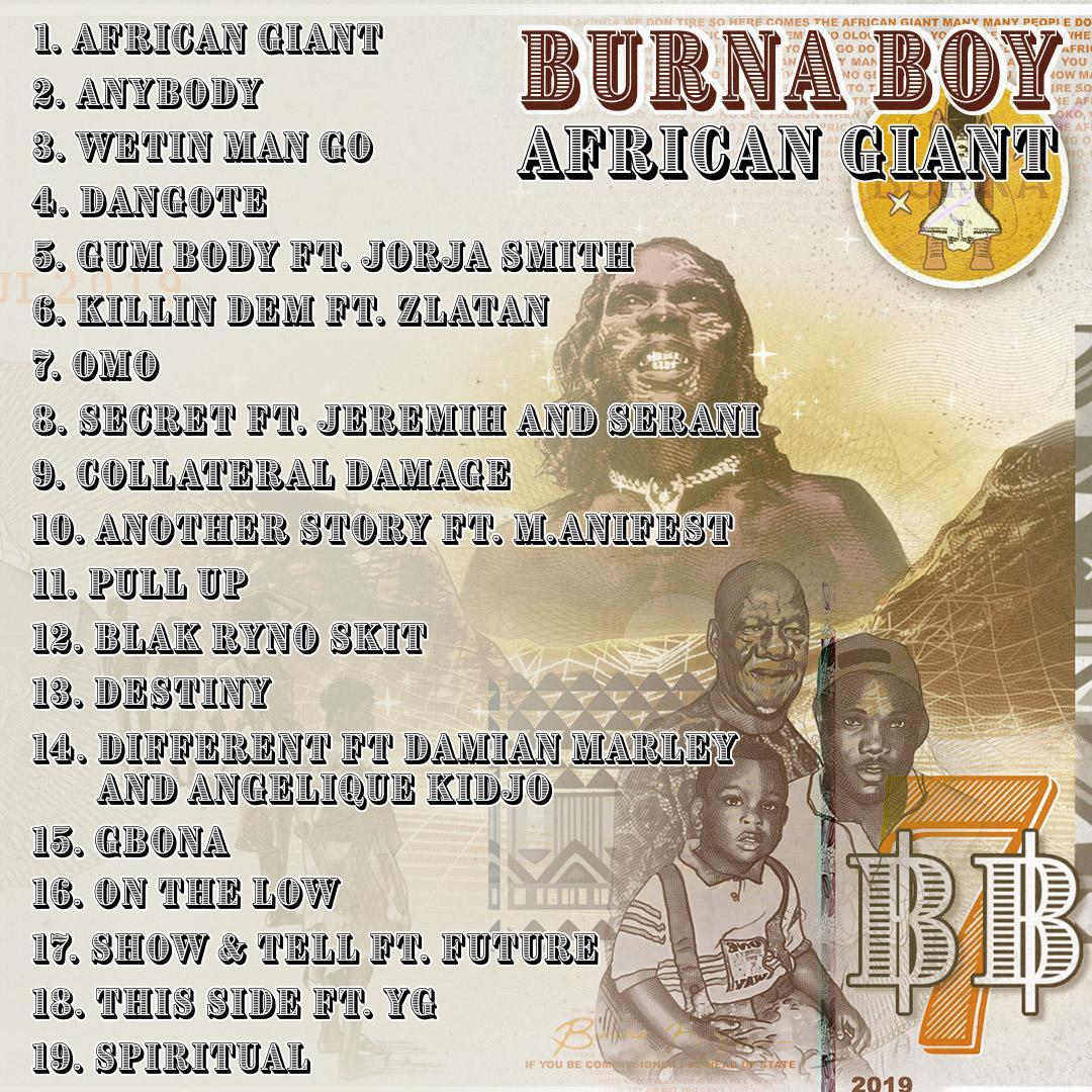 Burna Boy Features Bob Marley's Son, American Stars In New Album