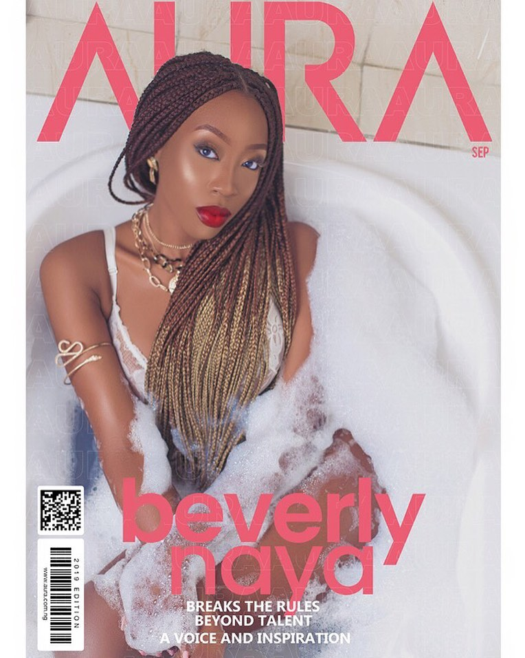 Beverly Naya is the Melanin Diva on the Cover of Aura Magazine's Latest Issue