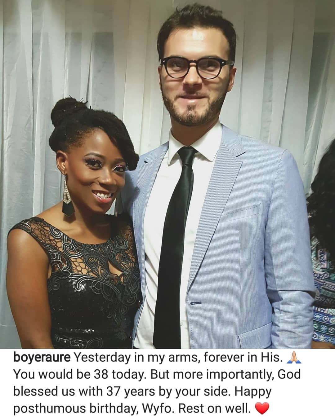 Yesterday in my Arms, Forever in His — Tosyn Bucknor's Husband Pens Tribute on her Post-Humous Birthday