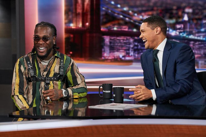 Burnaboy Performs On Trevor Noah's Daily Show