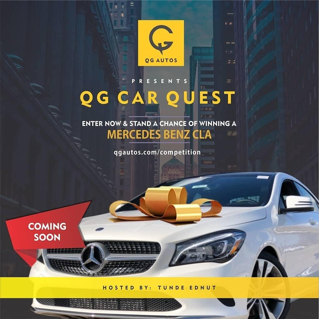 Here's How You can become The Owner of a Mercedes Benz in the Maiden Edition of the QG Car Quest