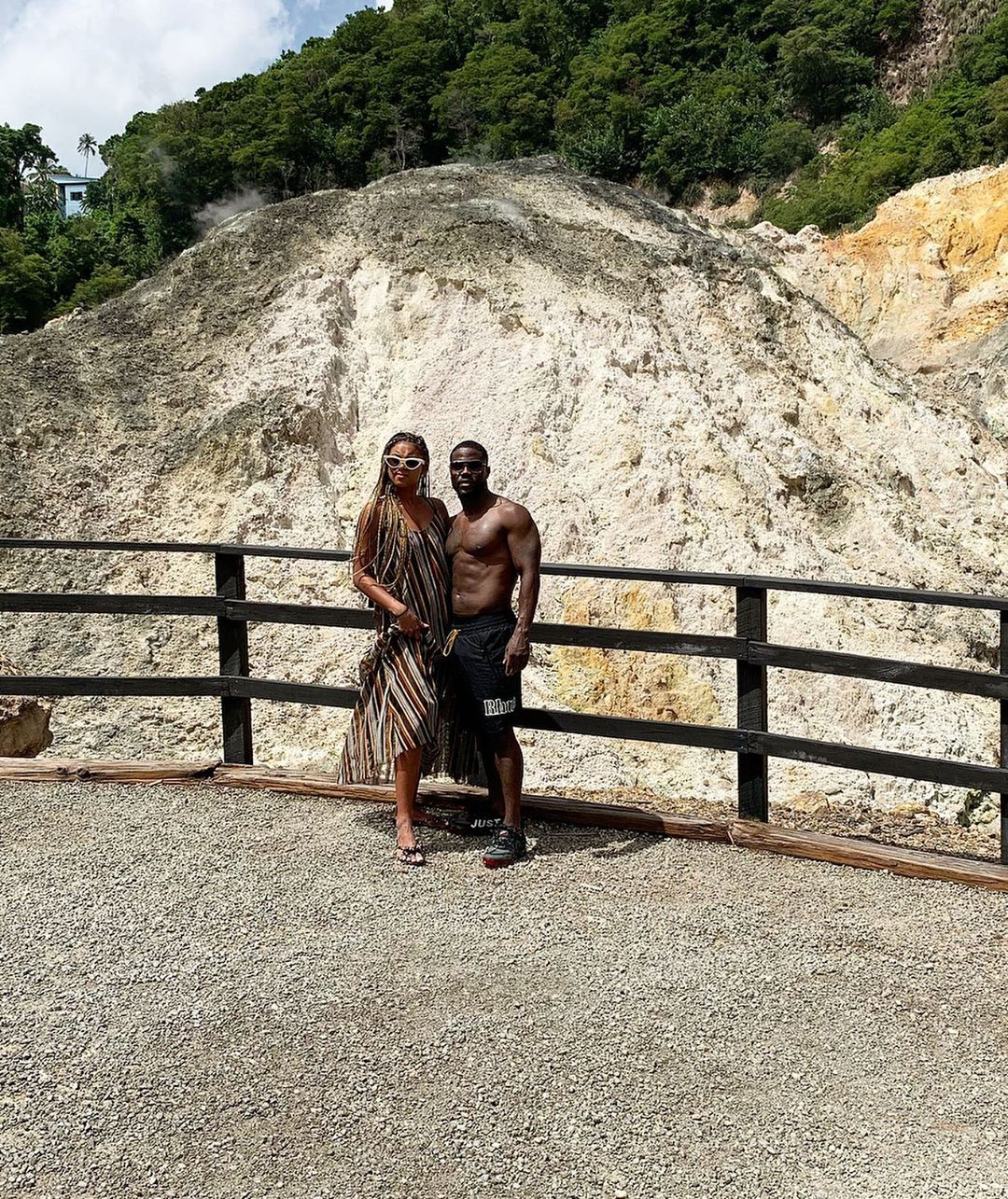 Kevin Hart and Eniko Hart in St Lucua