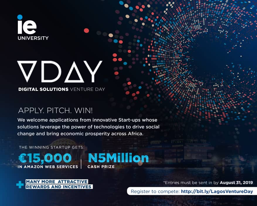 Participate & Win N5million for Your Start-up Business at IE University's Venture Day in Lagos | September 20th