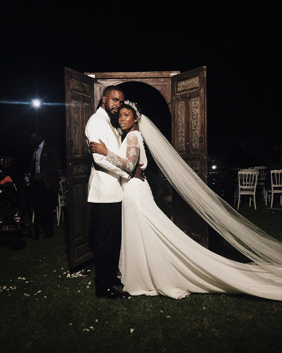 Check Out this Lovely First Photo of Dodos & Her Love Tolulope's Intimate Destination Wedding in Marrakech 😍