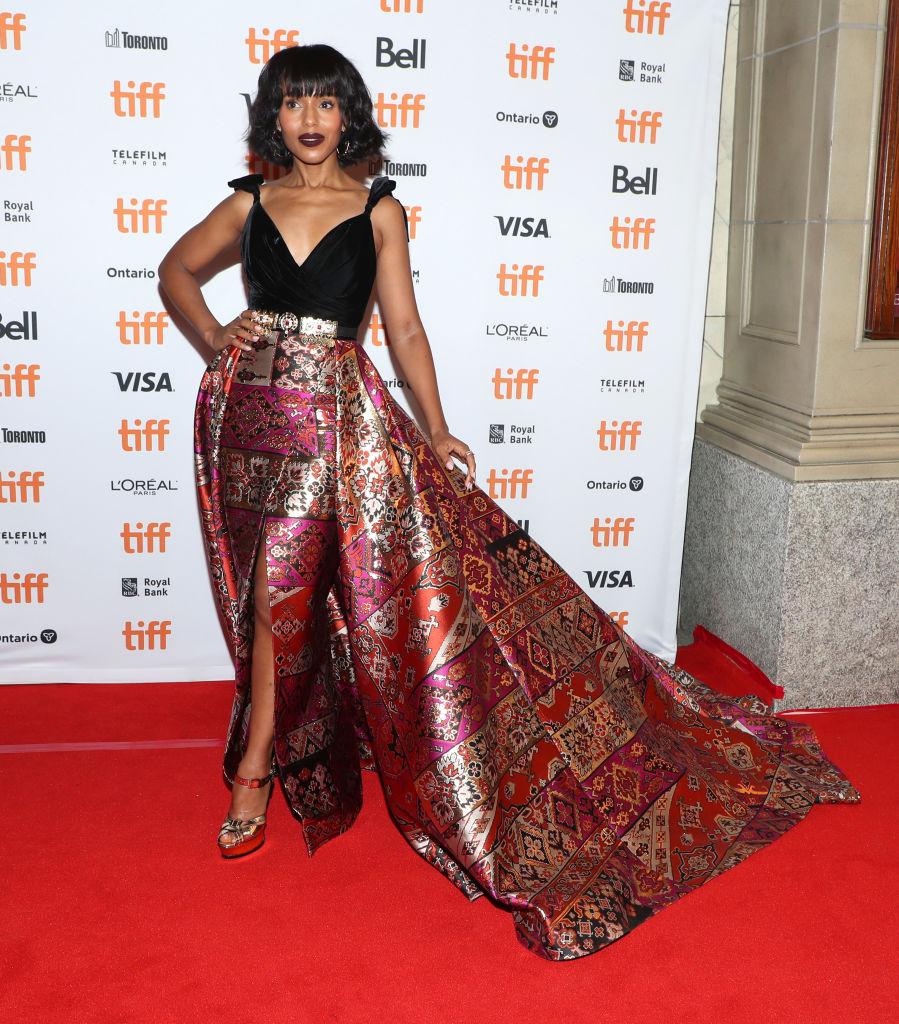 "GettyImages 1174316756 - SKerry Washington is All Shades of Gorgeous at ""American Son"" Premiere 