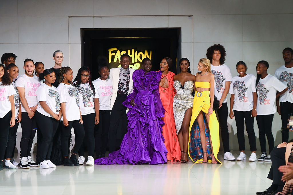 Image result for tiwa savage runway for naomi campbell