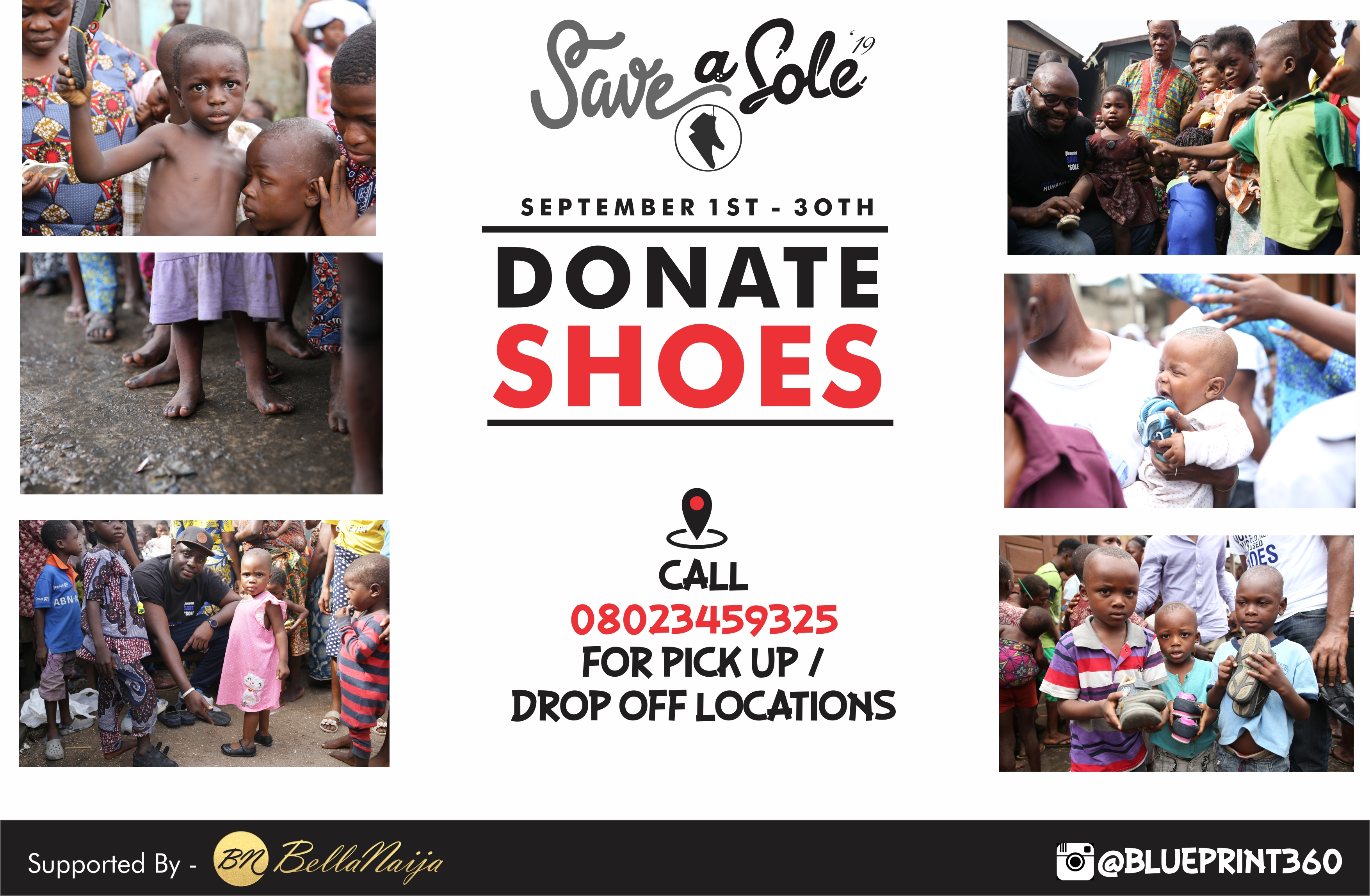 Blueprint Save A Sole Shoes Charity Project