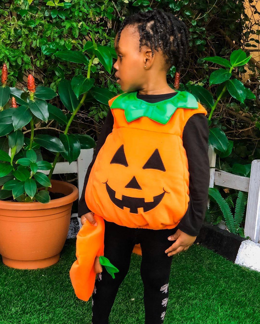 Jude & Ify Okoye's Daughter Eleanor is a Cute Lil' Pumpkin for Halloween 🎃