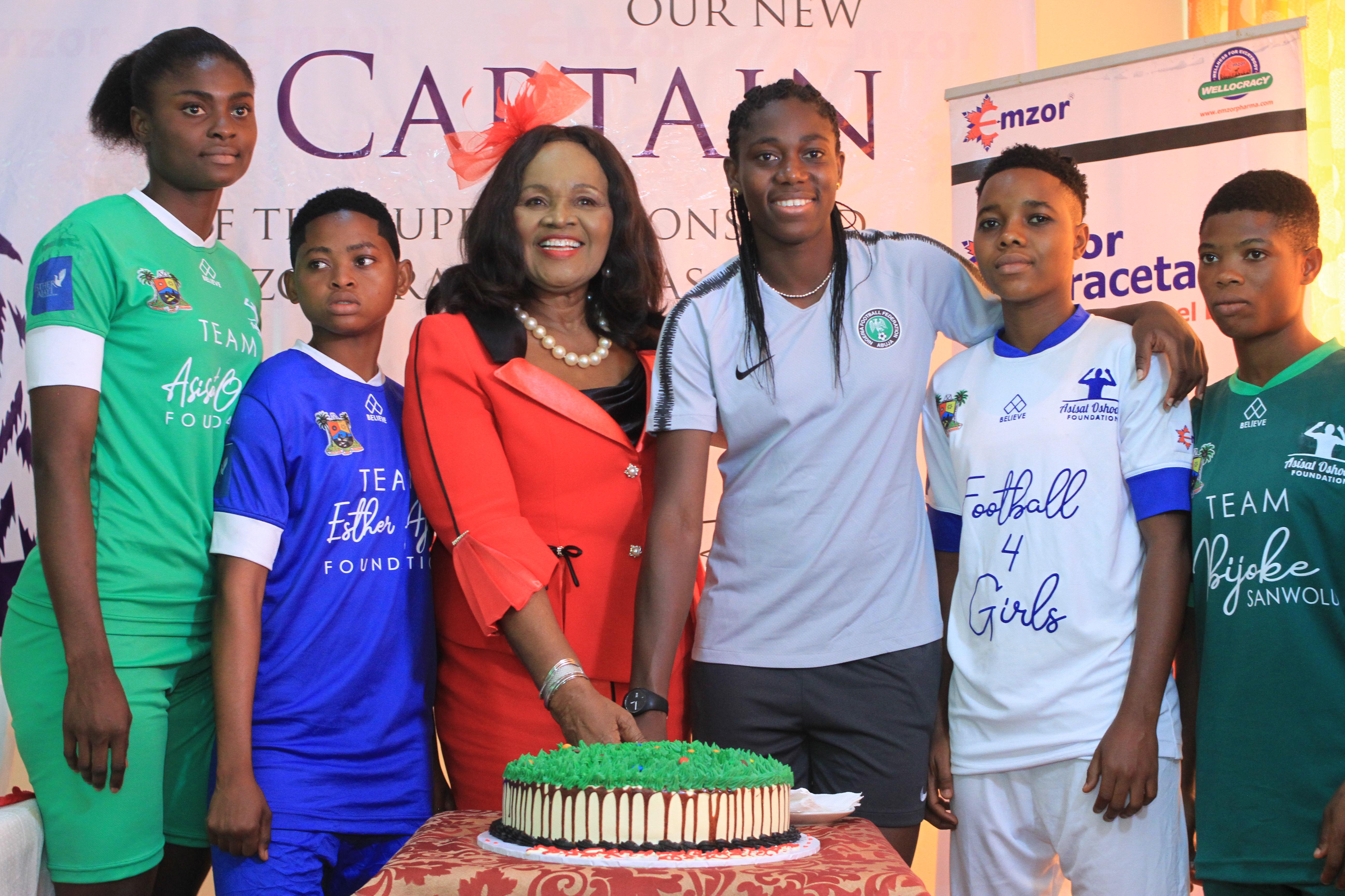 Emzor celebrates the New Captain of the Super Falcons Asisat Oshoala & We've got Photos
