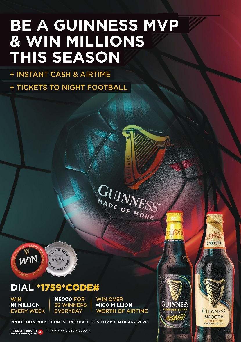 Become an MVP & win Millions in the Guinness Most Valuable Player Promotion | October 1st – January 31st