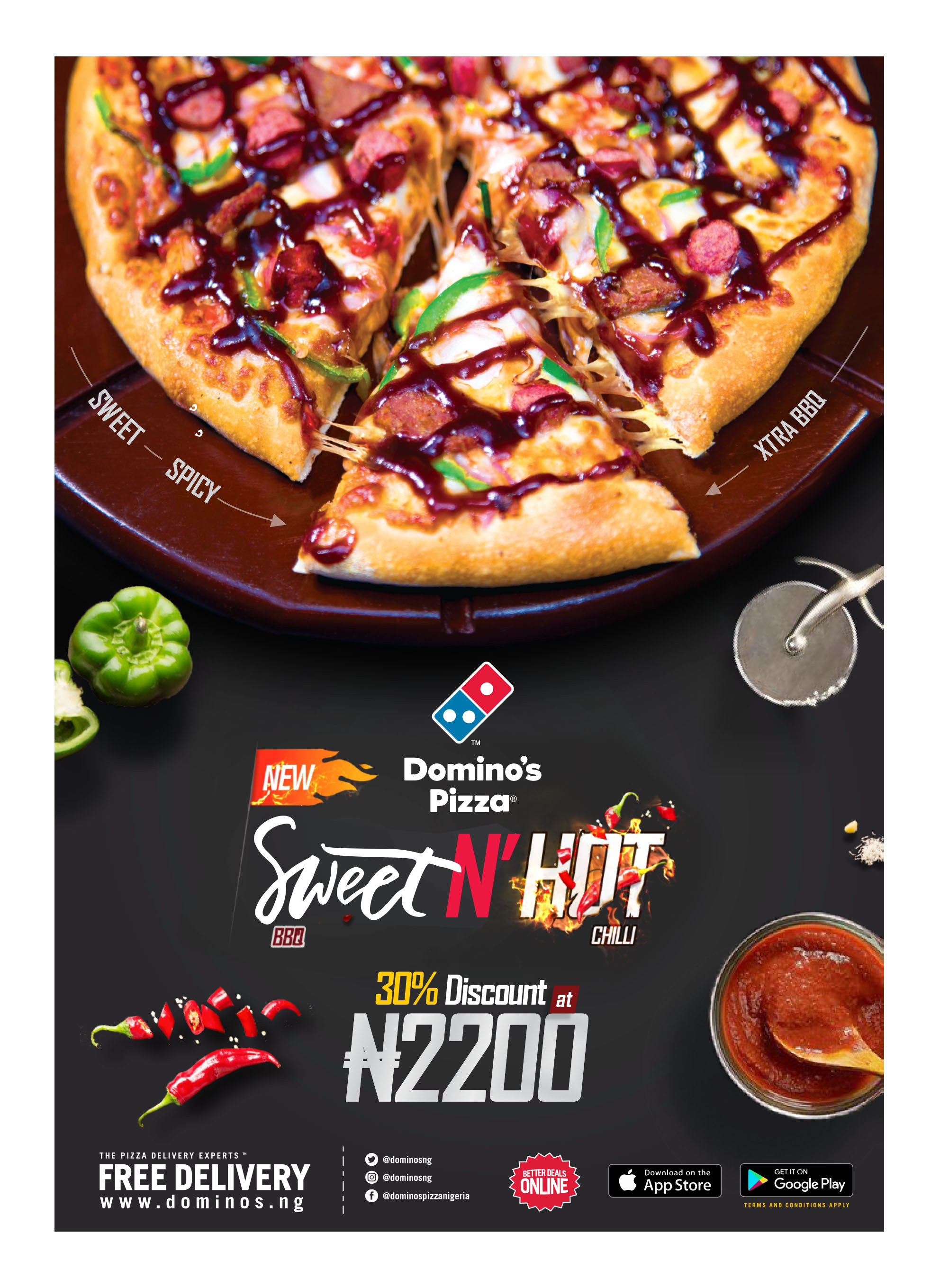 Taste the Spice of Naija with the New Domino's Hot & Spice Flavour