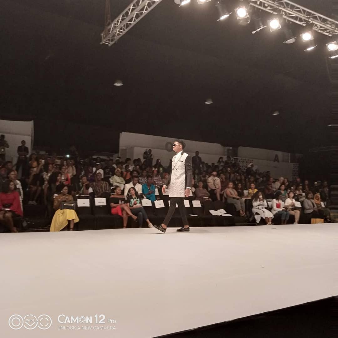 #BBNaija's Ike just walked the Runway for Lagos Fashion Week