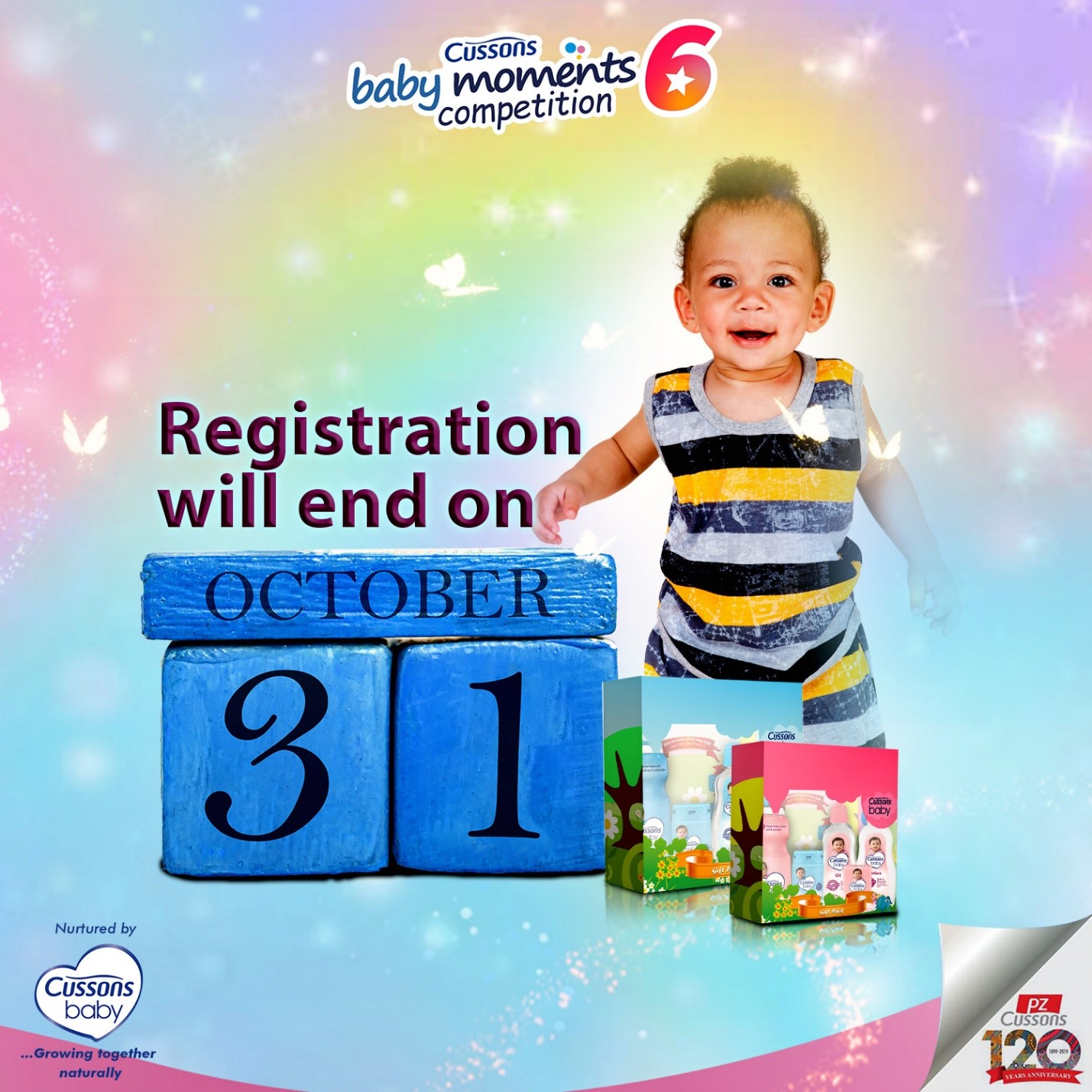 Just 1 Day left for You to Register your Child in the Cussons Baby Moments 6 Competition