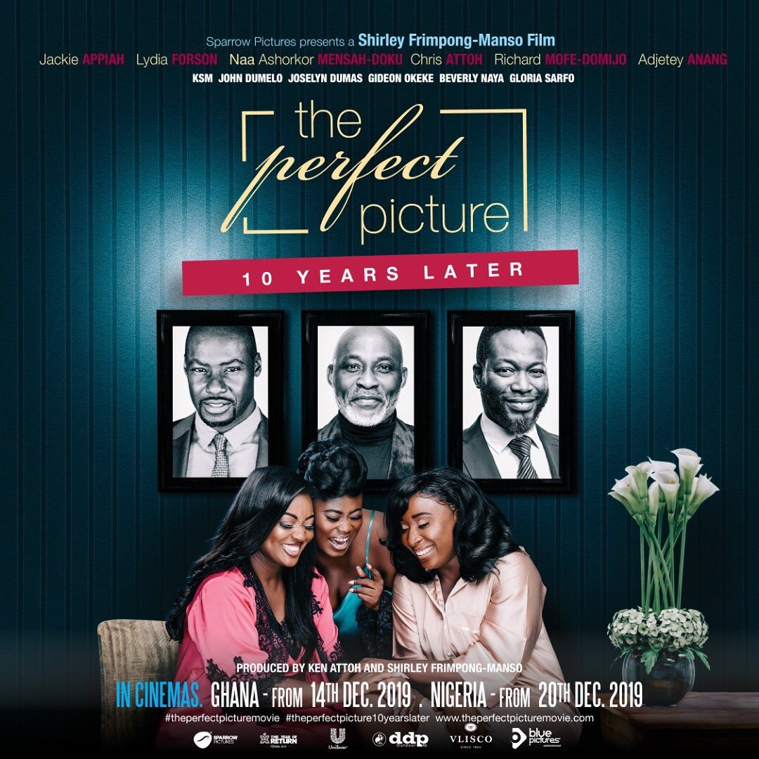 Official Poster for 'The Perfect Picture – 10 Years Later' starring Richard Mofe Damijo, Joselyn Dumas, Beverly Naya & Chris Attoh