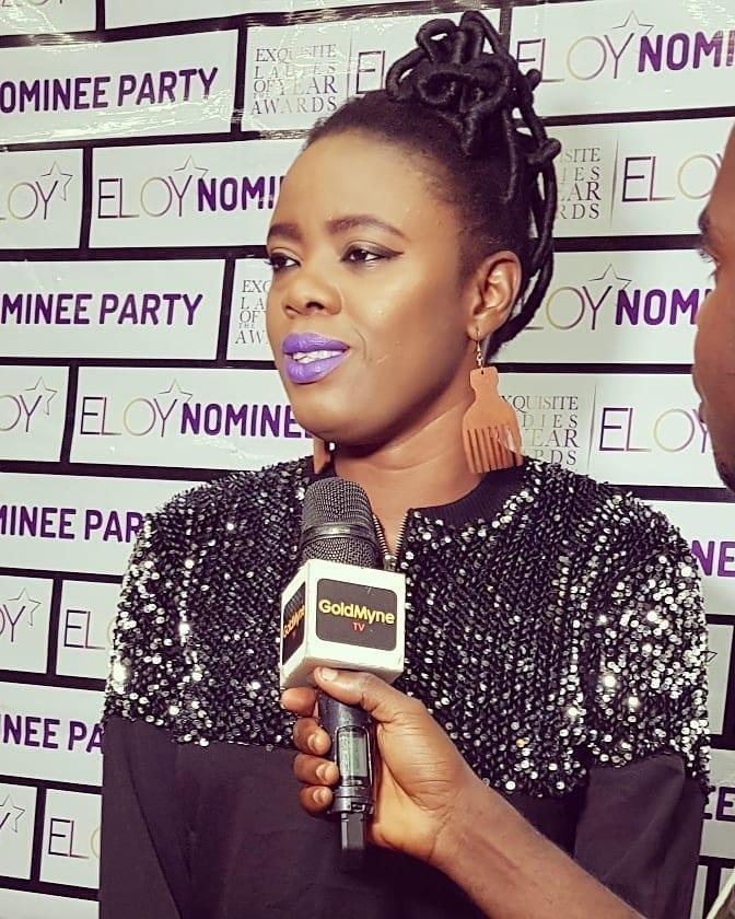 Adetoke Oluwo, Valerie Ike and Simi Drey attend the #EloyAwards2019 Nominee Party