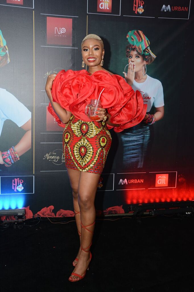 Falz, Harrysong, Denrele, Alex Unusual at the Private Screening of the 'Nancy Isime Show'