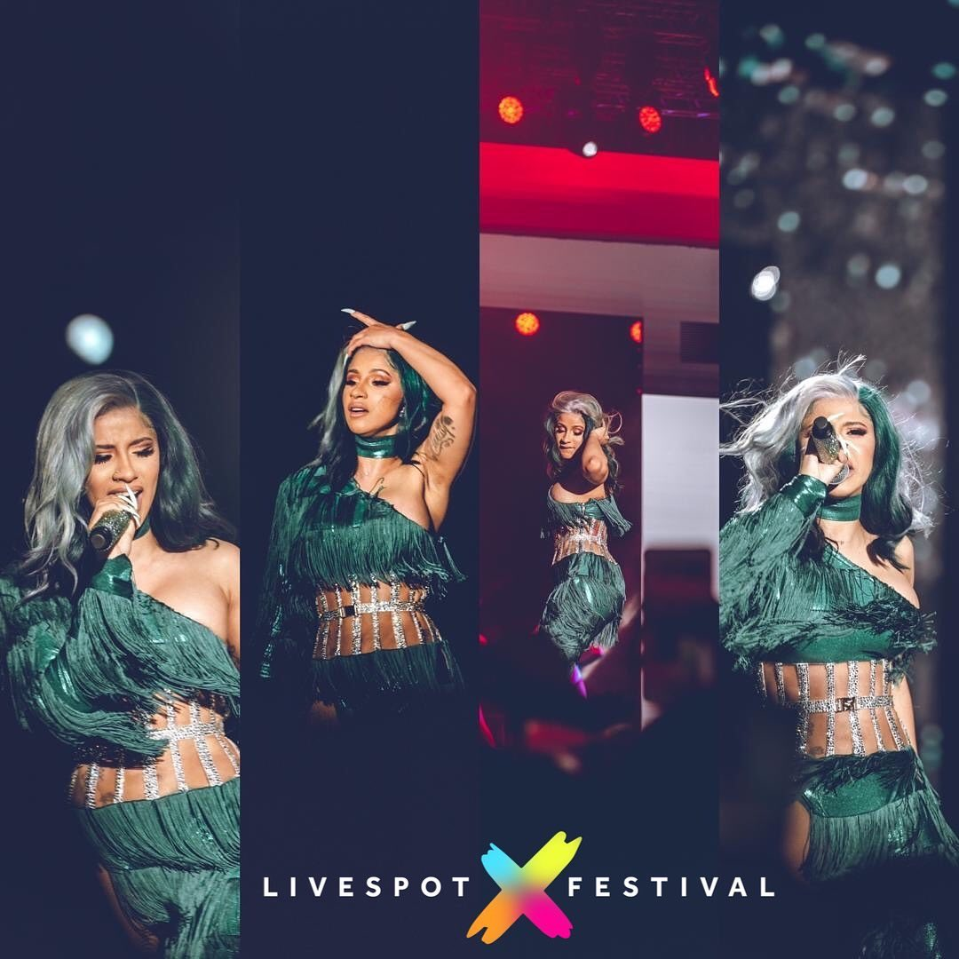 Cardi B made a Statement in Nigerian Colors for her LIT performance| WATCH