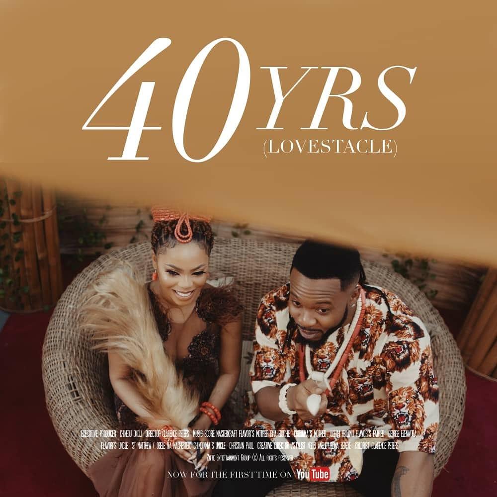 "Flavour & Chidinma debut Short Film ""40yrs Lovestacle"" starring Rita Edochie, George Ezenwora & Ogechi Obilonu | WATCH"