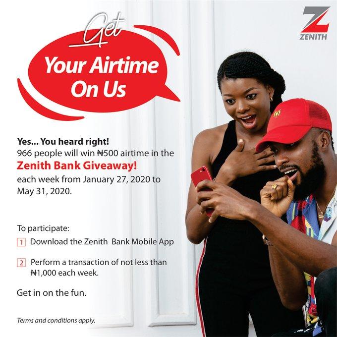 Zenith Bank Giveaway