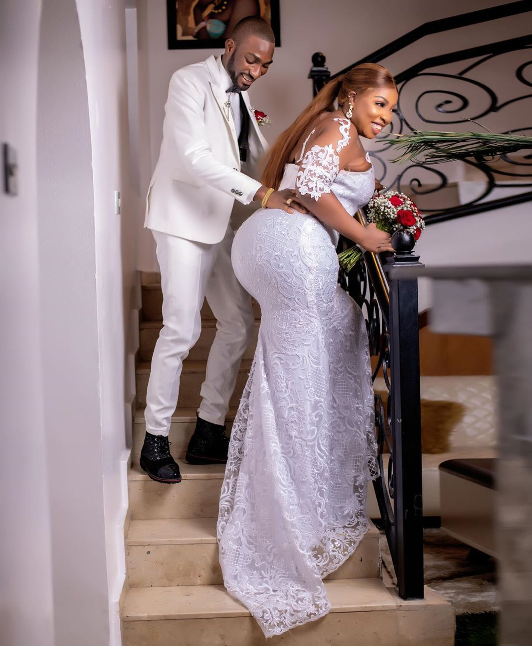 Congratulations! Anita Joseph ties the knot with her beau, MC Fish 💍