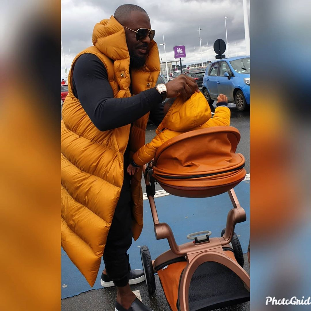 Photos of Jim Iyke and son