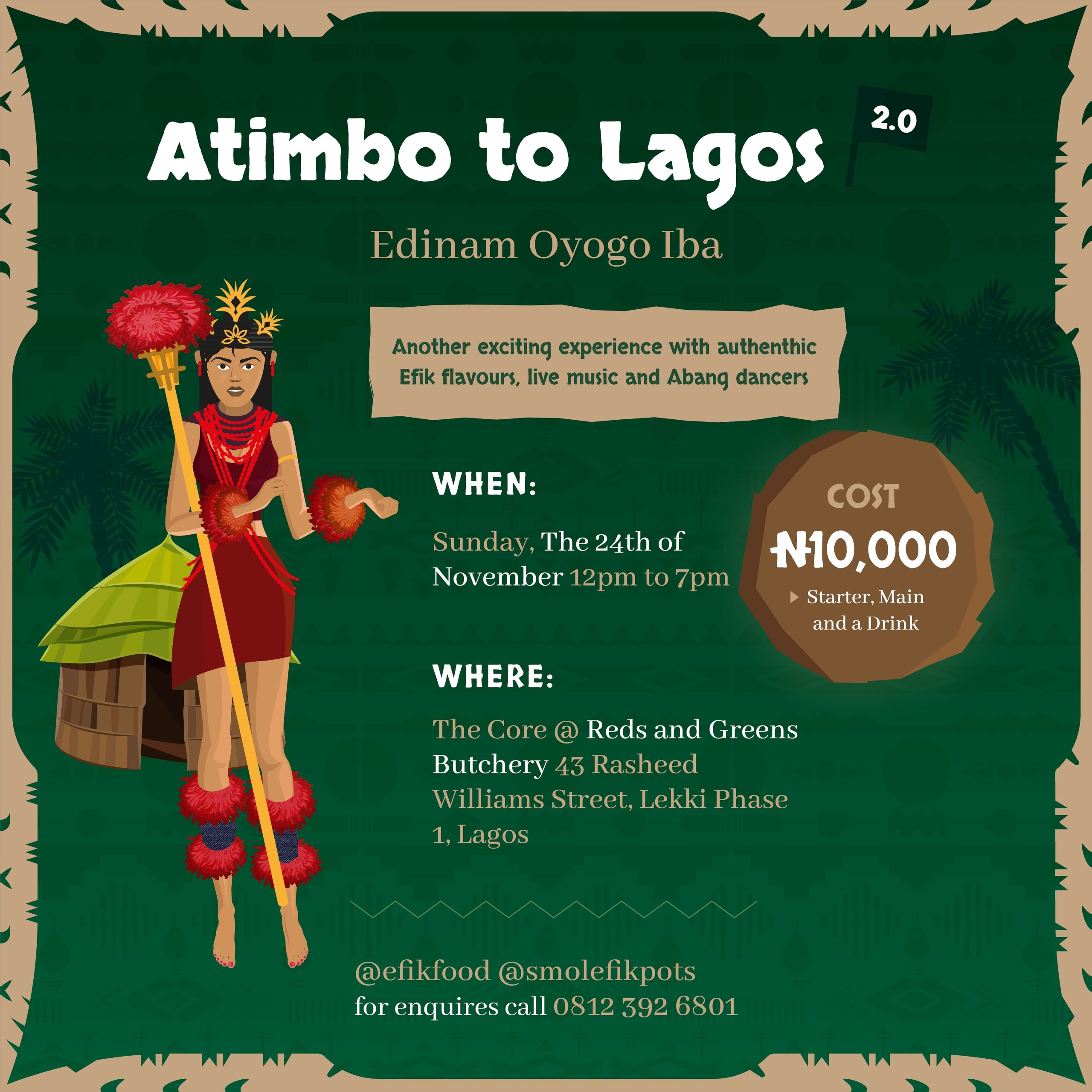 From the Delicious Efik Food to the Live Music, 'Atimbo to Lagos 2.0' was a Rich Display of Culture & Colors