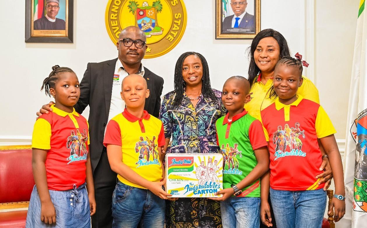 The excitement was at its Peak as Members of the Indomie Fan Club met the First Lady of Lagos State, Ibijoke S - BellaNaija