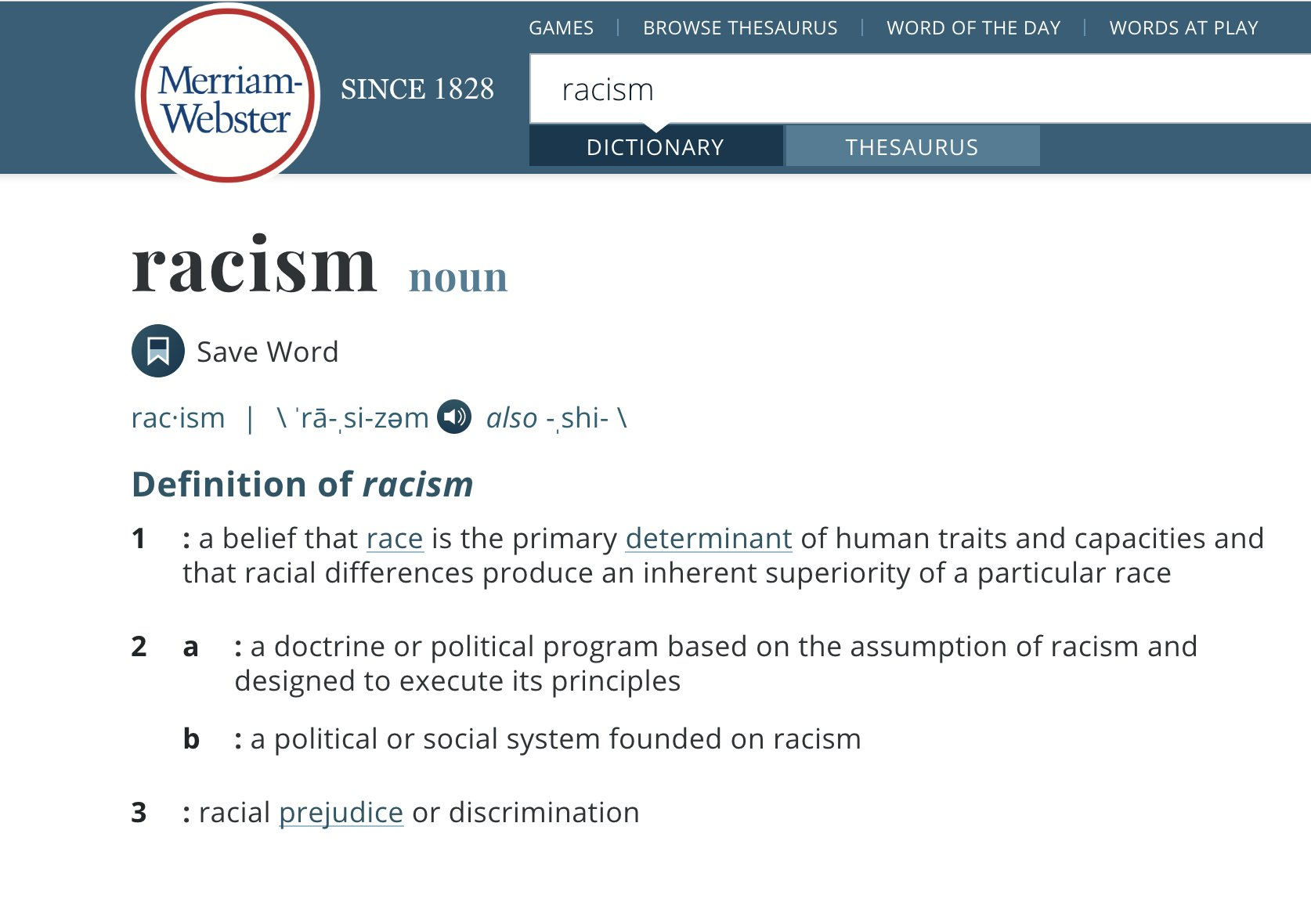 Merriam-Webster to change definition of racism after university graduate's suggestion