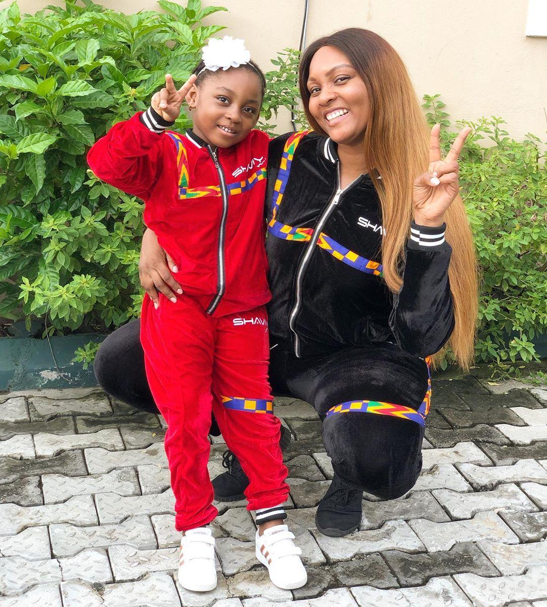 Osas Ighodaro & Daughter Azariah are too Cute in their Matching Outfits |  BellaNaija