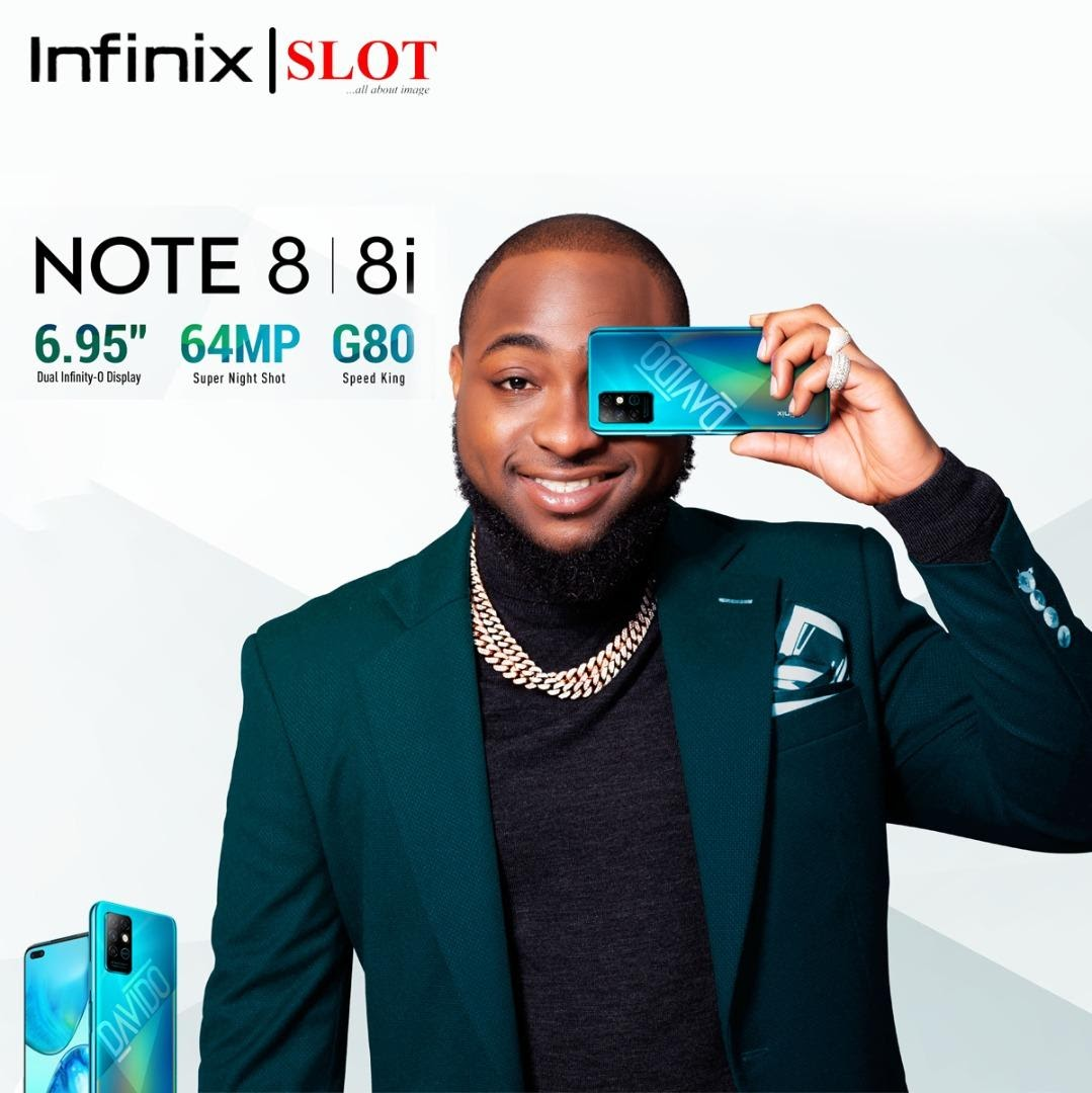 Davido signs the new Note 8 to introduce the Infinix Celebrity Edition Smartphone