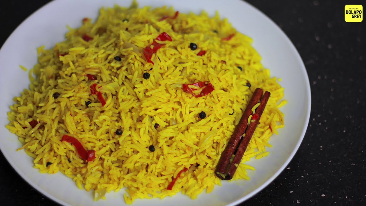 Want to Try Something Different? Let Dolapo Grey show you her Yellow Rice Recipe
