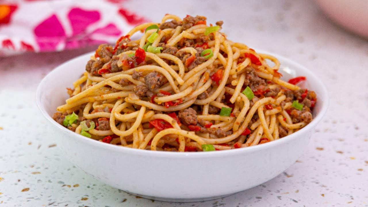 There S A 100 Guarantee You Ll Love The Kitchen Muse S Minced Meat Spaghetti Recipe Bellanaija