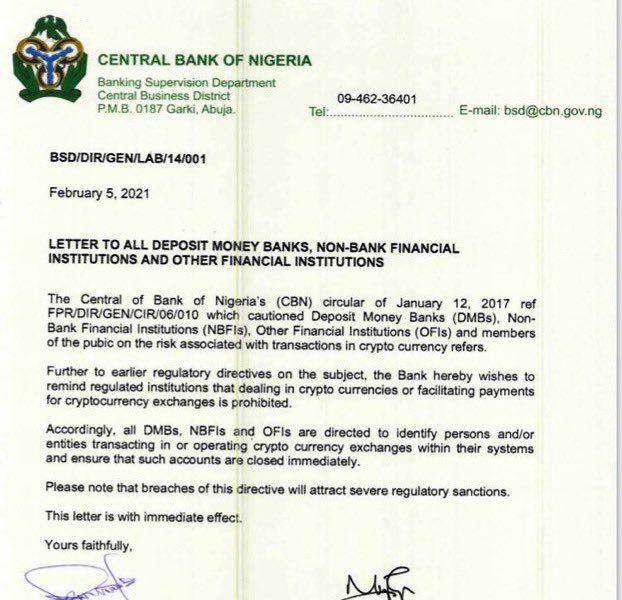 Warum verbot CBN Crypto in Nigeria?